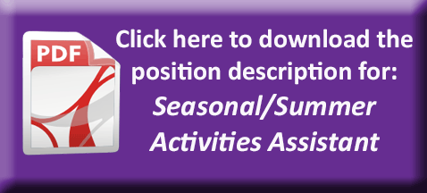 Seasonal/Summer Activities Assistant